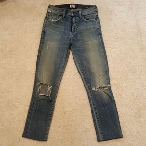 Citizens of Humanity Rocket crop denim jeans.